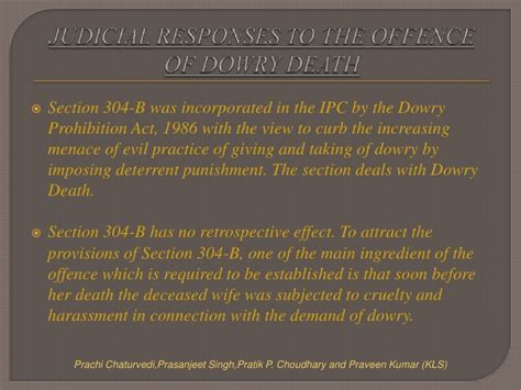 section 24 of ipc dowry death under section 304 b of ipc by prachi pratik