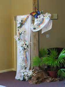 easter church and easter decor on