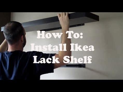 install an lack shelf