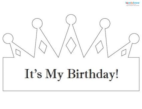 Birthday Crown Template birthday crown template pictures to pin on