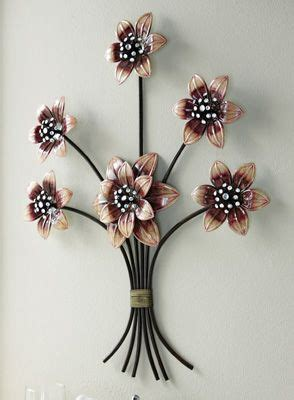 sparkling purple floral metal wall decor