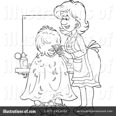 coloring pages hair stylist hair salon coloring pages