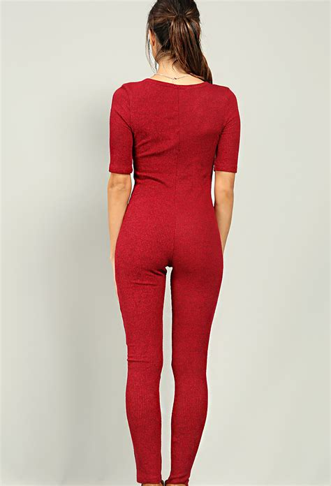 knitted jumpsuit ribbed knit jumpsuit shop sweaters cardigans at papaya