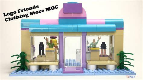 tutorial lego friends custom lego friends clothing store moc lego building