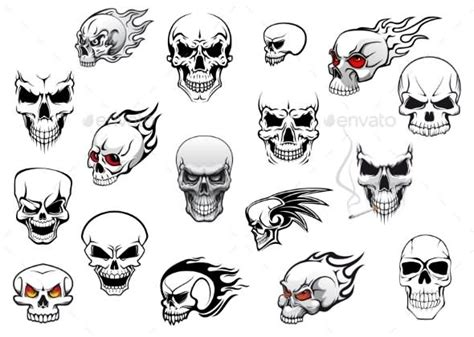 simple skull tattoos 21 simple horror tattoos