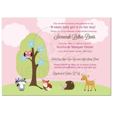 Forest Animal Baby Shower woodland forest animals baby shower invitation