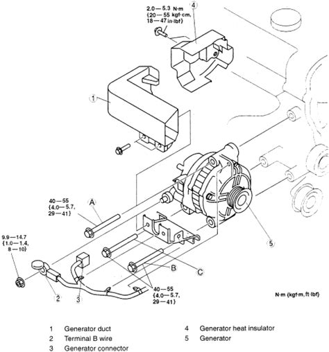 mazda how to replace an alternator motor vehicle