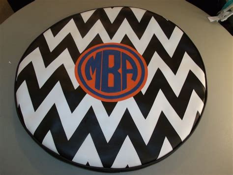 Mba Circular Monogram by Chevron Monogram Spare Tire Cover Mba Lxmboutique Spare
