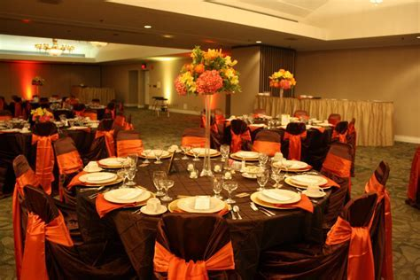 Burnt Orange Wedding Decorations   burnt orange sash and