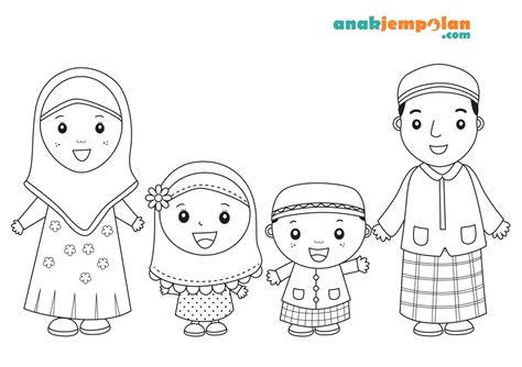 Format Sticker Happy Familyl Anak Perempuan 2 islamic coloring pages coloring pages for toddlers