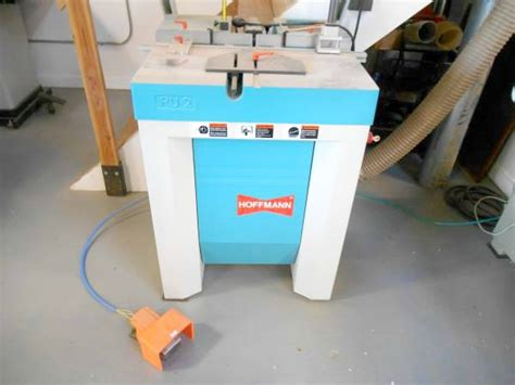 hoffman woodworking used hoffman pu2 butterfly dovetail routing machine pre