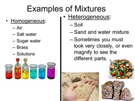 exle of mixture matter and change ppt