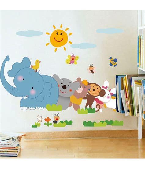 Wall Sticker Ay9006 60x90 stickerskart wall stickers jungle animals 5705 60x90 cms buy stickerskart wall