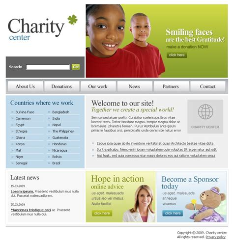 blogger templates for charity charity website template 22255