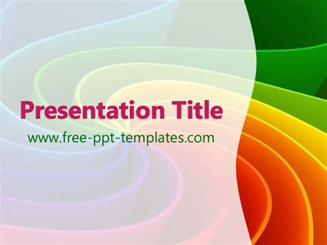 Rainbow Colors Ppt Template Rainbow Powerpoint Template Free