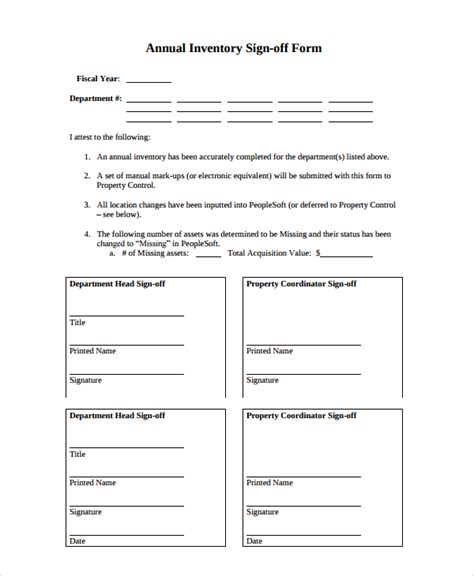 sle sign off form 7 documents in pdf