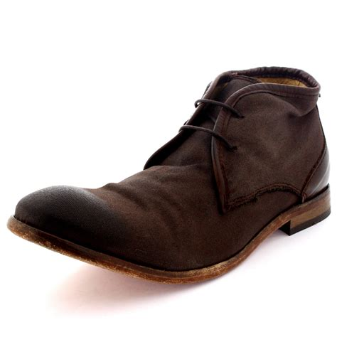 mens chukka work boots mens h by hudson cruise ankle boot canvas laced work