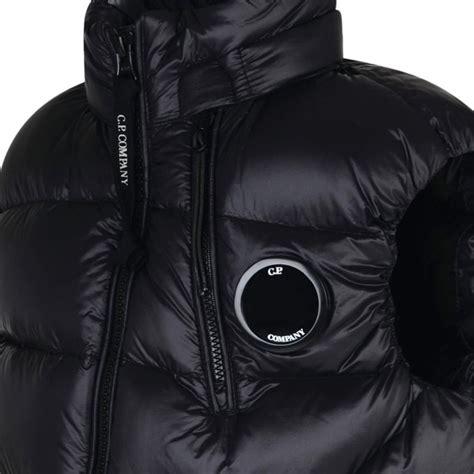 cp company boys black padded gilet jacket with logo badge