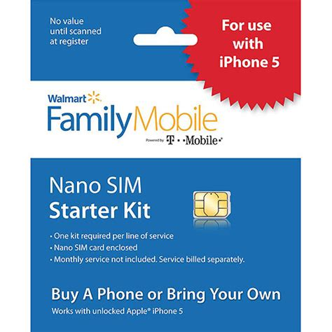 At T Microsim Card Starter Kit 4ff walmart family mobile standard micro sim starter kit