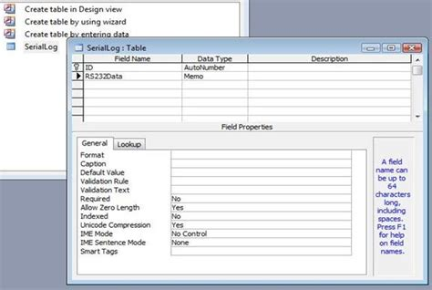 Cps Table Creator by Dde Exle Setup Ms Access To Receive Data From Barcode
