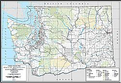 Washington State Highway Map by Wsdot Digital Maps And Data