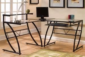 Z Line L Shaped Desk Z Line Designs Belaire Steel And Glass L Shaped Desk Black Zl1441 1du