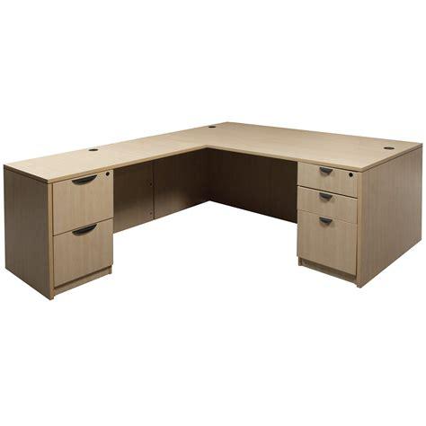 Maple L Shaped Desk Laminate Used Left Return L Shape Desk Maple National Office Interiors And Liquidators