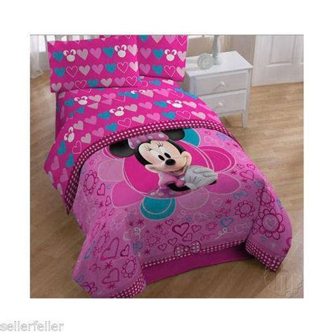 minnie mouse toddler comforter minnie mouse bedding ebay