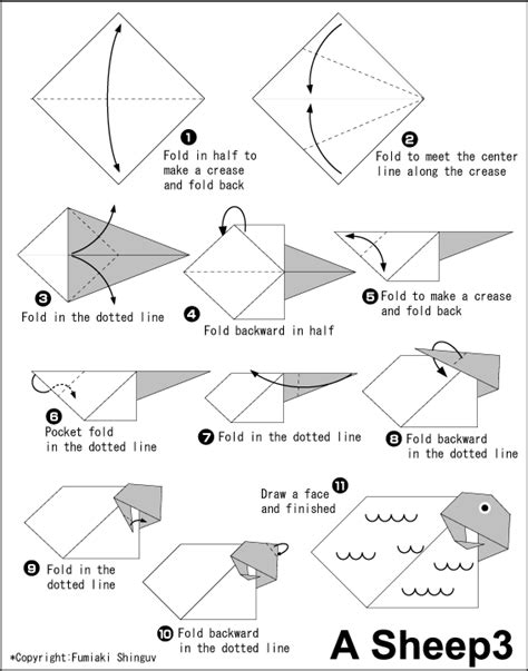 origami sheep diagrams origami sheep diagrams 28 images origami pig diagram