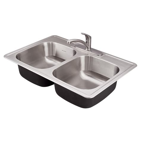 Two Bowl Kitchen Sink Ada Bowl 33 Inch 18 Kitchen Sink American Standard