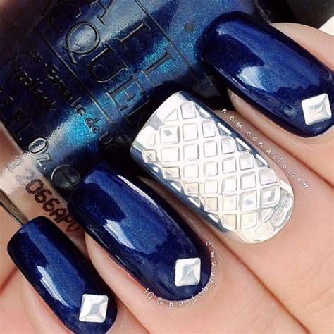 imagenes de uñas acrilicas azul rey u 241 as acrilicas azul rey