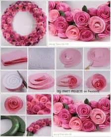 Craft Paper Roses - diy decor ideas 2014
