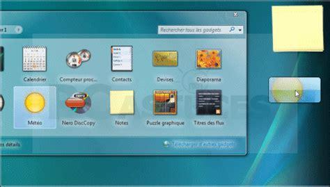 gadget bureau gratuit pc astuces afficher la mto sur le bureau windows vista