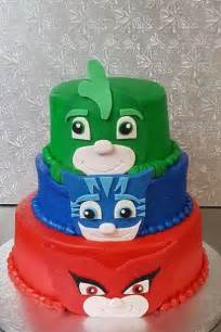 pj mask cake toppers owlette cat boy amp by idreamofjeaniescakes birthday cake amp party ideas for