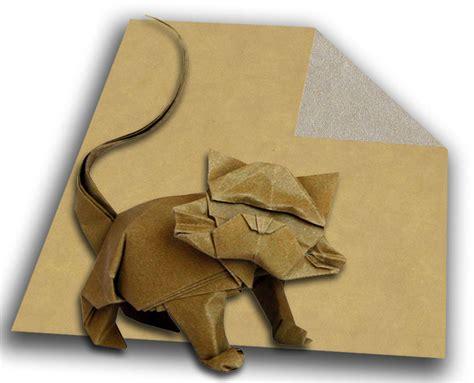 Origami Tissues - projet origami 2 gros matou de nicolas terry papier