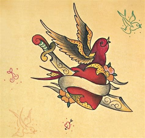 old school bird tattoo designs school dagger n bird design tattooshunt