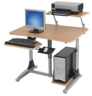 School Computer Desks by Height Adjustable School Computer Desks Include Printer Shelf And Cpu Holder