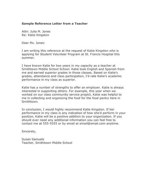amazing recommendation letters student teacher