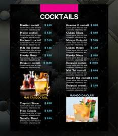 cocktail menu templates cocktail menu template 49 free psd eps documents
