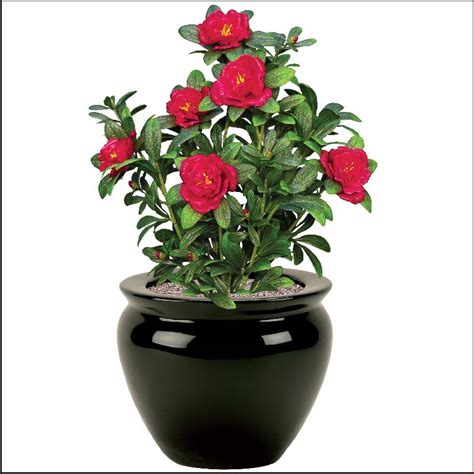 artificial garden flowers 18in azalea bush outdoor artificial