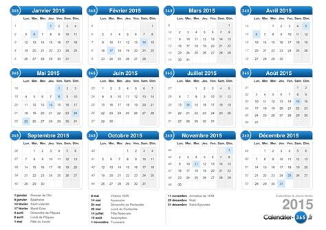 Calendrier 365 Jours 2015 Calendrier 2015