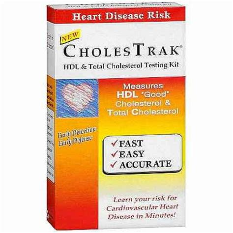 cholestrak hdl and total cholesterol home test kit
