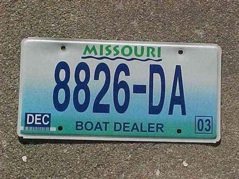 1997 missouri dealer license plate - Missouri Boat Dealer License