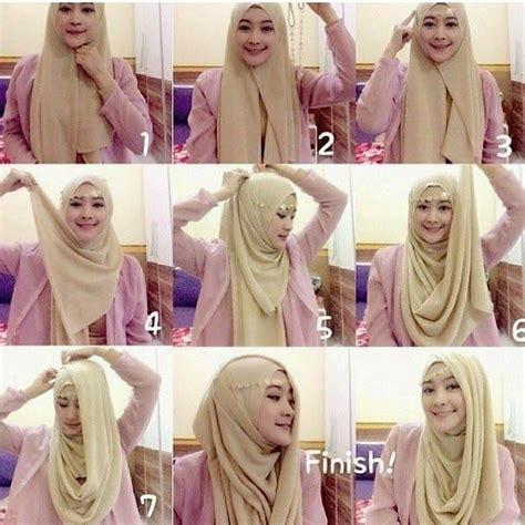 tutorial hijab berkacamata simple 201 best images about hijab tutorials on pinterest