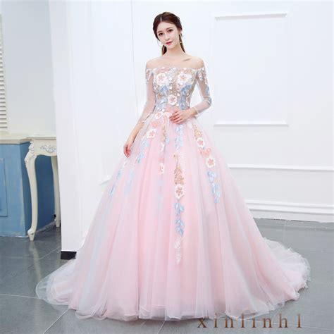 30618 Pink Sweet Offshoulder Dress 2018 sweet pink korean shoulder wedding gown bridesmaid dress customize one size ebay