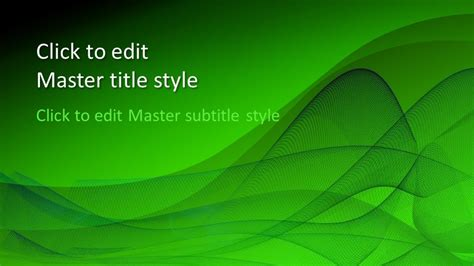green design powerpoint template  powerpoint