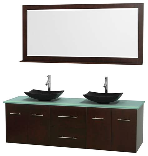 Green Glass Vanity by 72 Quot Bathroom Vanity Green Glass Countertop Sinks