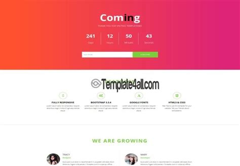 responsive free coming soon html5 template download