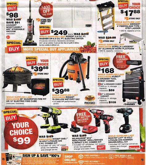 what time does home depot open up black friday 2015 home depot ad scan buyvia