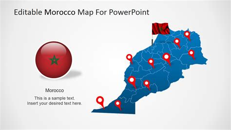 Editable Morocco Powerpoint Map Slidemodel Editable Powerpoint Templates